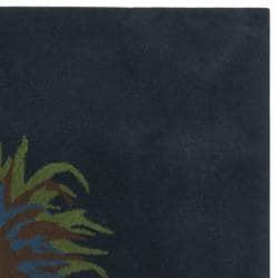Safavieh Handmade Feathers Blue New Zealand Wool Rug (7'6 Square) - Thumbnail 1
