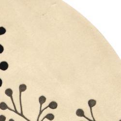 Safavieh Handmade Vine Ivory/ Grey New Zealand Wool Rug (8' Round) - Thumbnail 1