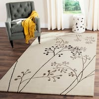 Safavieh Handmade Vine Ivory/ Grey New Zealand Wool Rug - 6' x 9'