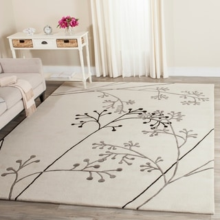 Safavieh Handmade Vine Ivory/ Grey New Zealand Wool Rug (8'3 x 11')