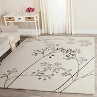Safavieh Handmade Vine Ivory/ Grey New Zealand Wool Rug - 8'3 x 11'