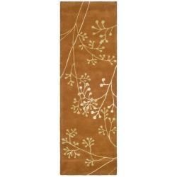 """Safavieh Handmade Vine Rust New Zealand Wool Runner Rug (2'6"""" x 12')"""