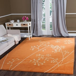 Safavieh Handmade Vine Rust New Zealand Wool Rug (3'6 x 5'6')