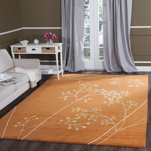 Safavieh Handmade Vine Rust New Zealand Wool Rug (7'6 x 9'6)
