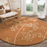 Safavieh Handmade Vine Rust New Zealand Wool Area Rug - 6' x 6' Round
