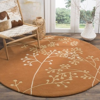Safavieh Handmade Vine Rust New Zealand Wool Rug (8' Round)