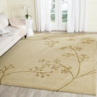 "Safavieh Handmade Vine Sage New Zealand Wool Rug - 9'-6"" X 13'-6"""