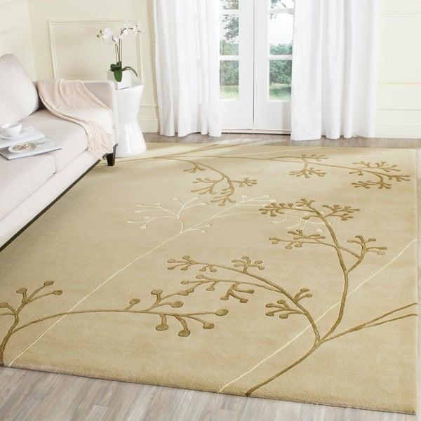 Safavieh Handmade Vine Sage New Zealand Wool Rug - 7'6 x 9'6