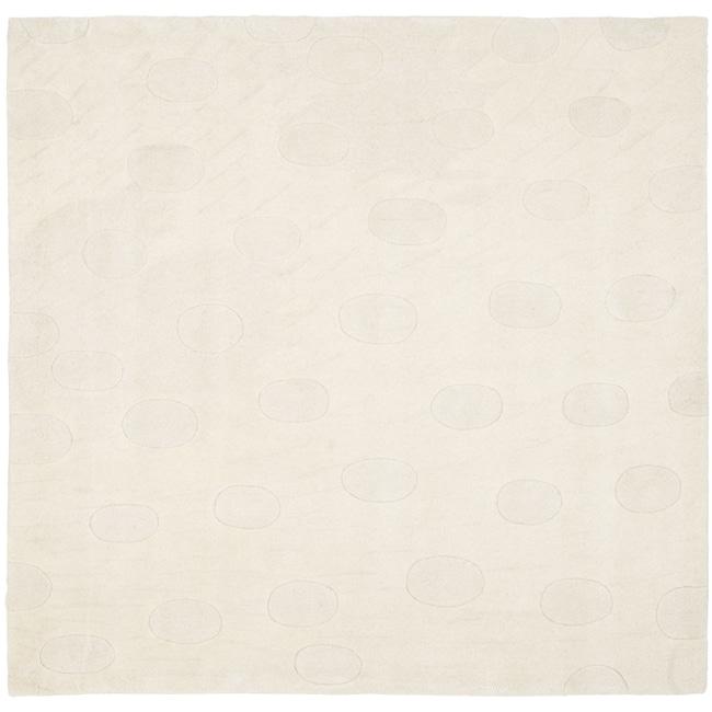 Safavieh Handmade Moments White New Zealand Wool Rug (6' Square)
