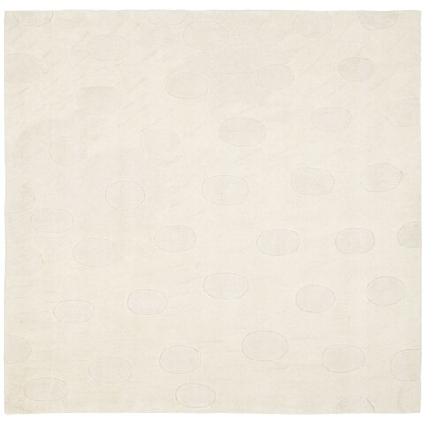 Safavieh Handmade Moments White New Zealand Wool Rug - 8' x 8' Square