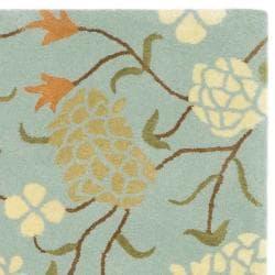 Safavieh Handmade Gardens Blue New Zealand Wool Rug (3'6 x 5'6') - Thumbnail 1
