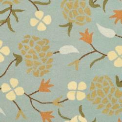 Safavieh Handmade Gardens Blue New Zealand Wool Rug (3'6 x 5'6') - Thumbnail 2