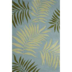 Safavieh Handmade Ferns Blue New Zealand Wool Rug (5'x 8')