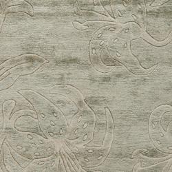 Safavieh Handmade Floral Grey New Zealand Wool Rug (3'6 x 5'6') - Thumbnail 2