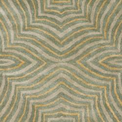 Safavieh Handmade Maz Grey New Zealand Wool Rug (3'6 x 5'6')