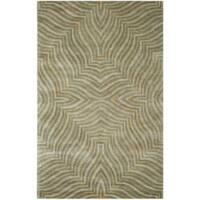 Safavieh Handmade Maz Grey New Zealand Wool Rug - 5' x 8'