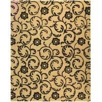 "Safavieh Handmade Rose Scrolls Beige New Zealand Wool Rug - 7'6"" x 9'6"""