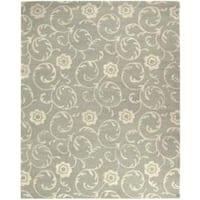 Safavieh Handmade Rose Scrolls Grey New Zealand Wool Rug - 3'6 x 5'6