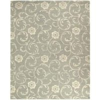 Safavieh Handmade Rose Scrolls Grey New Zealand Wool Rug - 8'3 x 11'