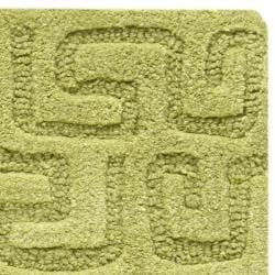 Safavieh Handmade Puzzles Green New Zealand Wool Rug (2' x 3') - Thumbnail 1