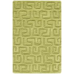 Safavieh Handmade Puzzles Green New Zealand Wool Rug (2' x 3')