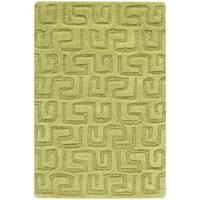Safavieh Handmade Puzzles Green New Zealand Wool Rug - 2' x 3'