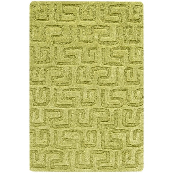 Safavieh Handmade Puzzles Green New Zealand Wool Rug - 2' X 3'