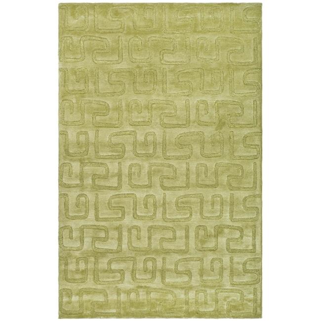 Safavieh Handmade Puzzles Green New Zealand Wool Rug (9'6 x 13'6)