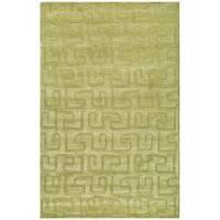 Safavieh Handmade Puzzles Green New Zealand Wool Rug - 5' x 8'