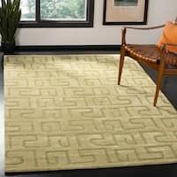 Safavieh Handmade Puzzles Green New Zealand Wool Rug - 5' x 8'