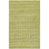 "Safavieh Handmade Puzzles Green New Zealand Wool Rug - 8'-3"" X 11'"