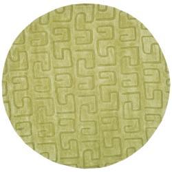 Safavieh Handmade Puzzles Green New Zealand Wool Rug (6' x 6' Round)