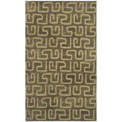 Safavieh Handmade Puzzles Brown/ Gold New Zealand Wool Rug (9'6 x 13'6)