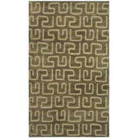 Safavieh Handmade Puzzles Brown/ Gold New Zealand Wool Rug - 9'6 x 13'6