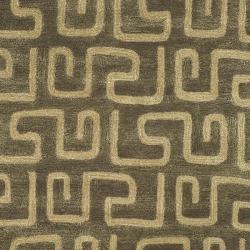 Safavieh Handmade Puzzles Brown/ Gold New Zealand Wool Rug (3'6 x 5'6')