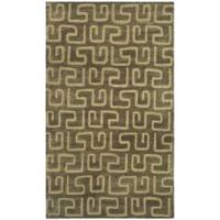Safavieh Handmade Puzzles Brown/ Gold New Zealand Wool Rug - 3'6 x 5'6