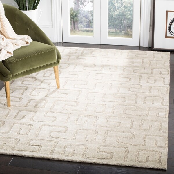 "Safavieh Handmade Puzzles Light Green New Zealand Wool Rug - 9'6"" x 13'6"""
