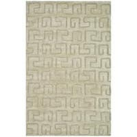 Safavieh Handmade Puzzles Light Green New Zealand Wool Rug - 7'6 x 9'6