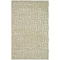 Safavieh Handmade Puzzles Light Green New Zealand Wool Rug - 8'3 x 11'