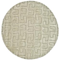 Safavieh Handmade Puzzles Light Green New Zealand Wool Runner Rug - 6' x 6'
