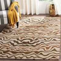 Safavieh Handmade Tribal Beige New Zealand Wool Rug - 3'6 x 5'6