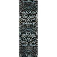 "Safavieh Handmade Tribal Blue New Zealand Wool Rug (2'6 x 10') - 2'6"" x 10'"