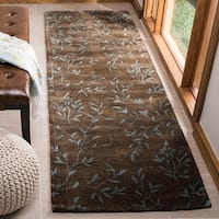 "Safavieh Handmade Tranquility Brown New Zealand Wool Rug - 2'6"" x 10'"