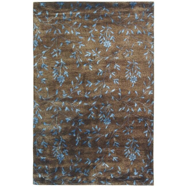 Safavieh Handmade Tranquility Brown New Zealand Wool Rug - 9'6 x 13'6
