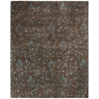 "Safavieh Handmade Tranquility Brown New Zealand Wool Rug - 8'-3"" x 11'"