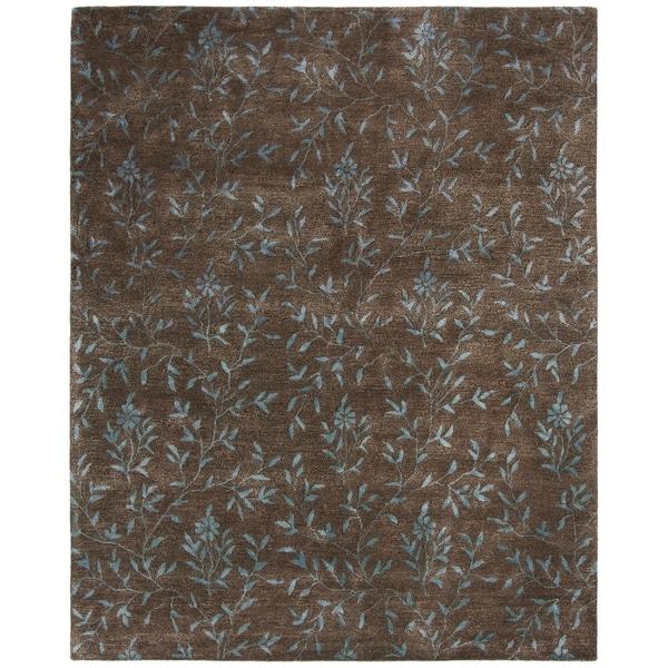 "Safavieh Handmade Tranquility Brown New Zealand Wool Rug - 8'-3"" x 11'"