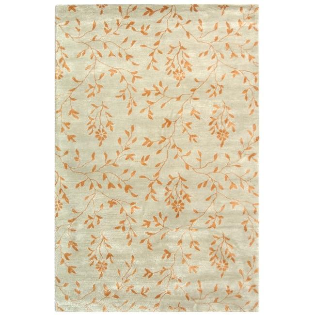Safavieh Handmade Tranquility Light Green New Zealand Wool Rug (3'6 x 5'6')
