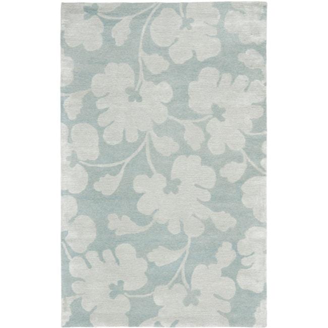 Safavieh Handmade Shadows Light Blue New Zealand Wool Rug - 5' x 8'