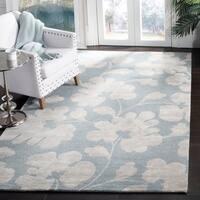 Safavieh Handmade Shadows Light Blue New Zealand Wool Rug - 6' x 9'