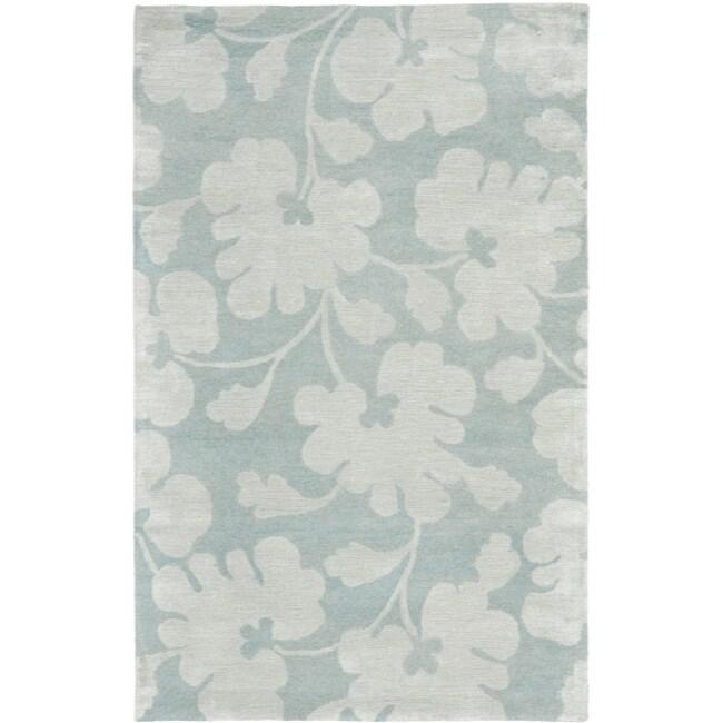 Safavieh Handmade Shadows Light Blue New Zealand Wool Rug - 7'6 x 9'6